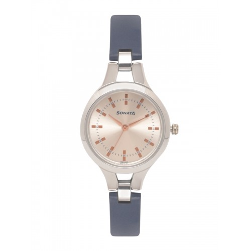 Sonata Women Silver-Toned Analogue Watch 8151SL01