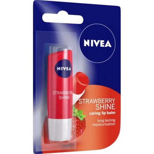 Nivea Shine Caring Lip Balm Strawberry