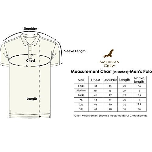 AMERICAN CREW Men's Cotton Poly Blend Polo