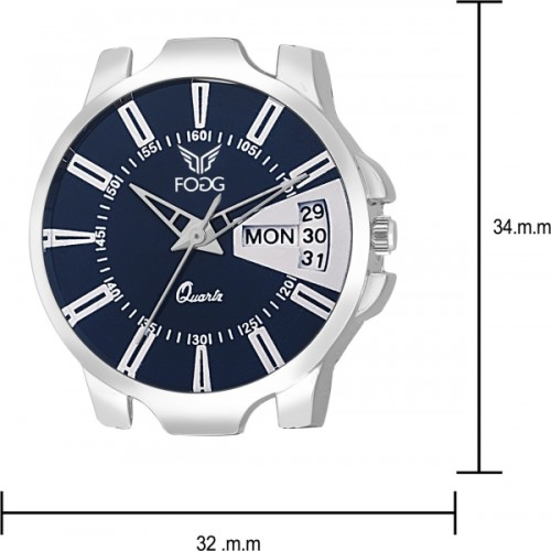 Fogg 3042-BL Day and Date Watch  - For Women