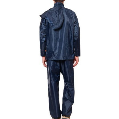 Motoway 100% WATERPROOF (BLUE, ) RAIN SUIT WITH HOOD & CARRY BAG FOR BIKERS