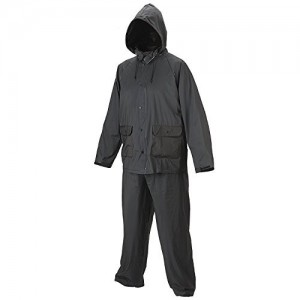 Romano Black Rain Coats for Men with Waterproof Jacket and Pant