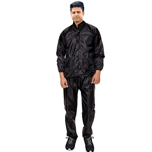 Dryon Men's Raincoat|Rainsuit (Black)