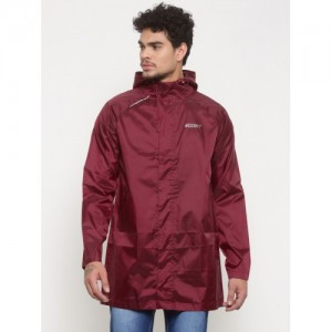 Wildcraft Maroon Waterproof Rain Jacket
