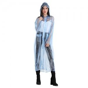 ELLIS Women's Polyester Blue Raincoat/Rainsuit/Rainwear