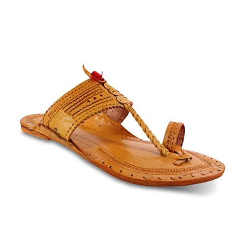 Unique Men's Kolhapuri Chappal Hard Surface with Pure Leather