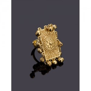 Studio Voylla Rann Utsav Gold-Toned Finger Ring