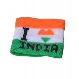 I Love India Wristband In National Colors By Indigo Creatives