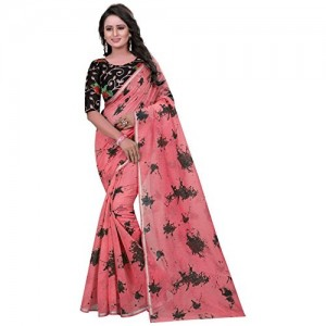 dc9b8948110157 Buy OFF-WHITE COLOR INDIAN DESIGNER PURE CHIFFON SAREE WITH BLOUSE ...