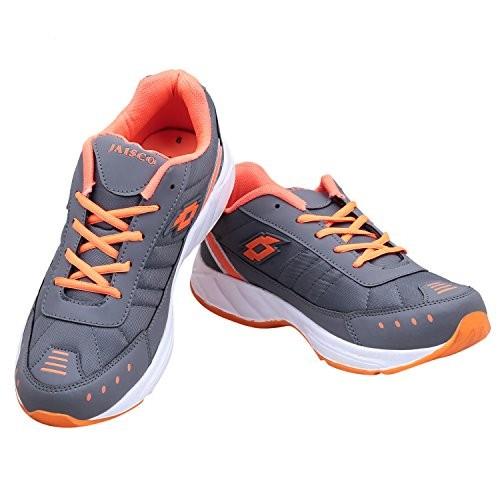 Look  Hook Jaisco  Men Gray Lace-up Running Shoes