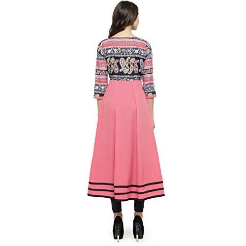 Shree Wow Pink Printed Anarkali Kurta