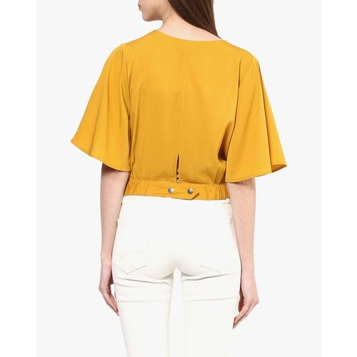 HARPA V-neck Crop Top with Bell Sleeves