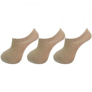 RC. ROYAL CLASS Women's Footies Loafer Skin Color Cotton Socks (Pack of 3 Pairs)