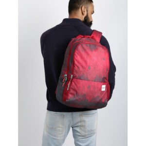 Wildcraft Wiki 1 Ombre Unisex Red Graphic Backpack