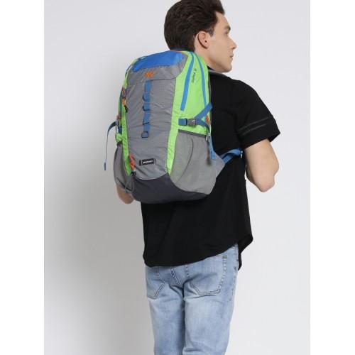 Wildcraft Unisex Grey & Green Textured Backpack