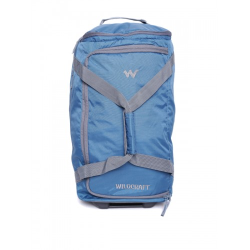 Buy Wildcraft Unisex Blue Voyager 22 Self-Checked Trolley Duffel Bag ... 37516a70a4494