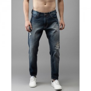 Moda Rapido Men Blue Slim Fit Mid-Rise Mildly Distressed Cropped Jeans