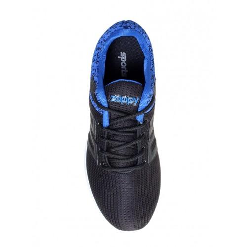 Zappy black Mesh sport shoe