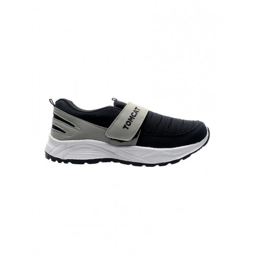Tomcat black Leatherette slip on sport shoe