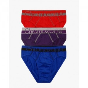 CHROMOZOME Pack of 3 Cotton Briefs