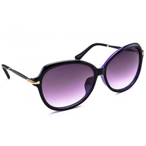 51ea6fb98c9 ... Stacle Over-sized Bug Eye Women s Sunglasses (Black Purple Frame)  -STD1546 ...