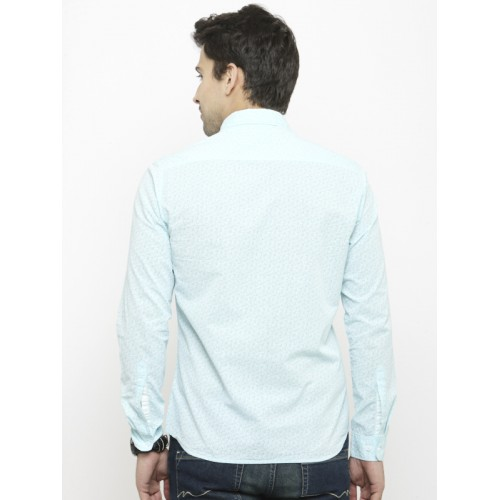 Numero Uno Men Blue Slim Fit Printed Casual Shirt