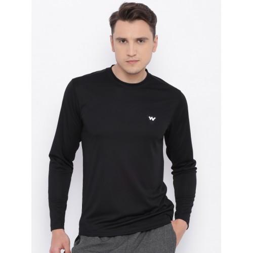 Wildcraft Men Black Solid HYPACOOL T-shirt