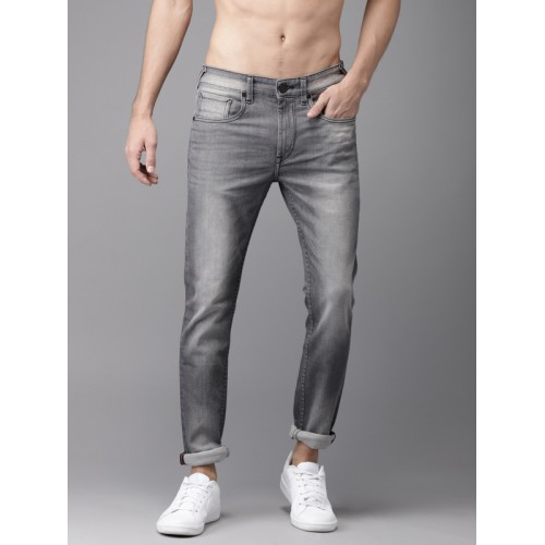 Moda Rapido Men Grey Skinny Fit Mid-Rise Clean Look Stretchable Jeans