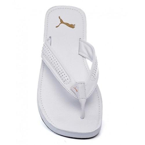 Buy Puma White Java III Ind Slippers online  be012b9fe
