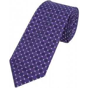 Park Avenue Checkered Men's Purple Tie
