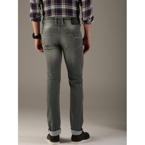 Flying Machine Men Grey Jackson Skinny Fit Mid-Rise Clean Look Stretchable Jeans