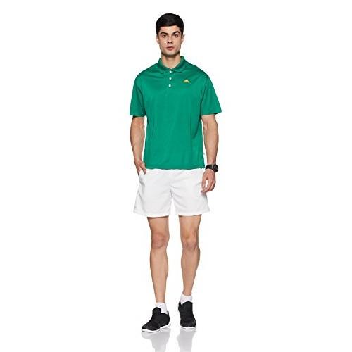 adidas Men's Banded Collar Cotton T-Shirt