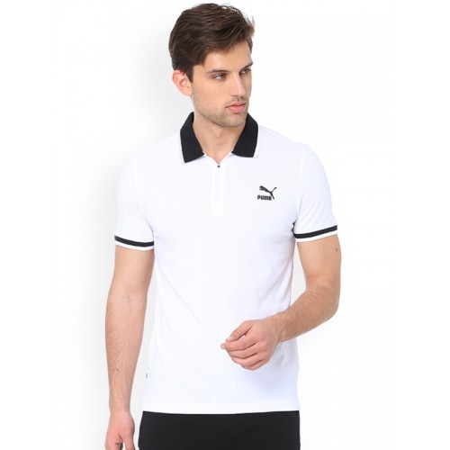 eecfce58c72 Buy Puma Vk One8 White Polo T-Shirt online | Looksgud.in