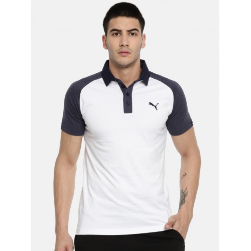 526c75709d5 Buy Puma White Polo T-Shirt online | Looksgud.in