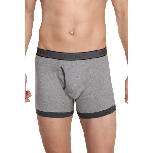 Jockey Jockey Grey Regular Fit Cotton Trunks - 1017