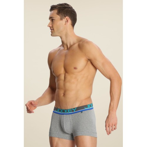 Jockey Jockey Grey Melange & Teal Green Modern Trunk - FP03