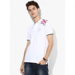 Pepe Jeans White Cotton Half Sleeves Polo T-Shirt
