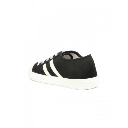 Shoetopia Women Black & White Regular Sneakers