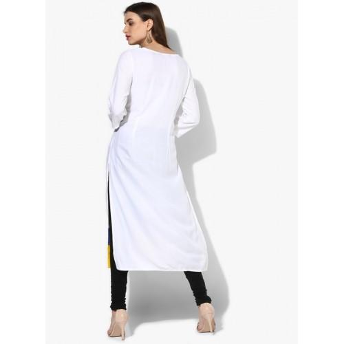 Rangmanch By Pantaloons Off White Printed Kurta