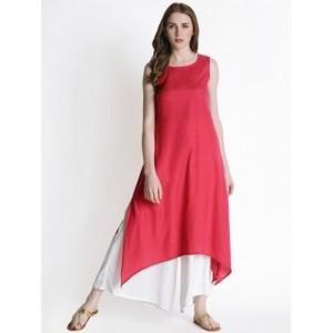 Rangmanch By Pantaloons Pink Solid Kurta