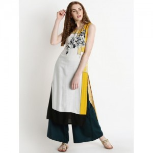 Rangmanch By Pantaloons Off-White Printed Kurta
