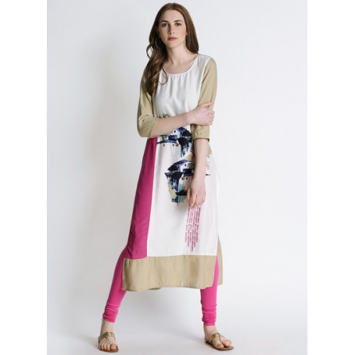 1a77491c2 Buy Rangmanch By Pantaloons Off White Printed Kurta online