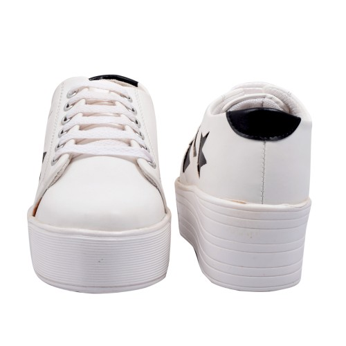 f4c419c10 Buy Trendy Look White Synthetic Lace Up Casual Shoes online ...