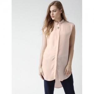 FOREVER 21 Peach-Coloured Casual Shirt