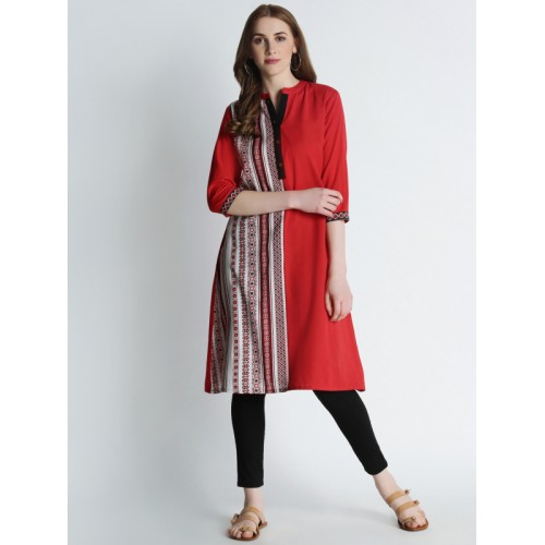 1a9196384 Buy Rangmanch By Pantaloons Red Printed Kurta online