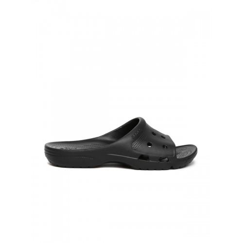 Crocs Unisex Black Solid Slip-On Flip Flops