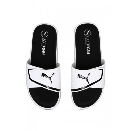 a7cae01d283 Buy Puma Men White   Black Starcat Sfoam Slides Sliders online ...