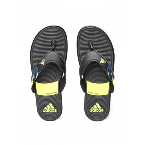 fc6cb9b4ac4de7 Buy Adidas Men Black SC Beach Printed Thong Flip-Flops online ...