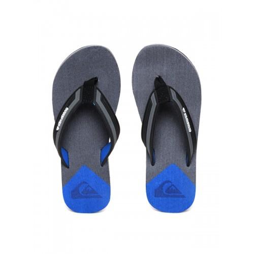 Quiksilver Men Grey & Black Flip-Flops