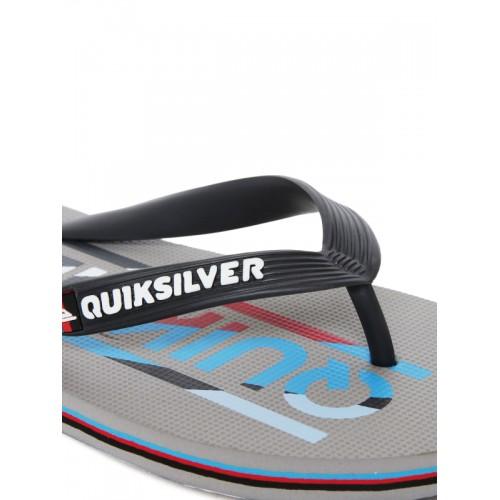 Quiksilver Men Black & Grey Printed Flip-Flops